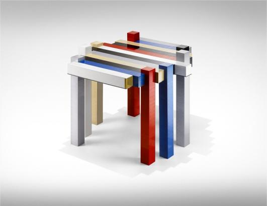 """Histogram"" Lego coffee table, 2012 - Nucleo_P. Robino + Alice C. Occleppo + Lada Neoberdina - D.I.Y."