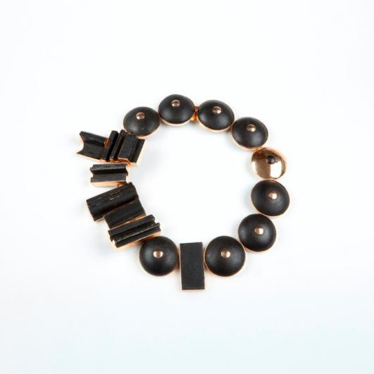 Didier ltd_Black painted wood and gold necklace by Louise Nevelson in late 1960s 2