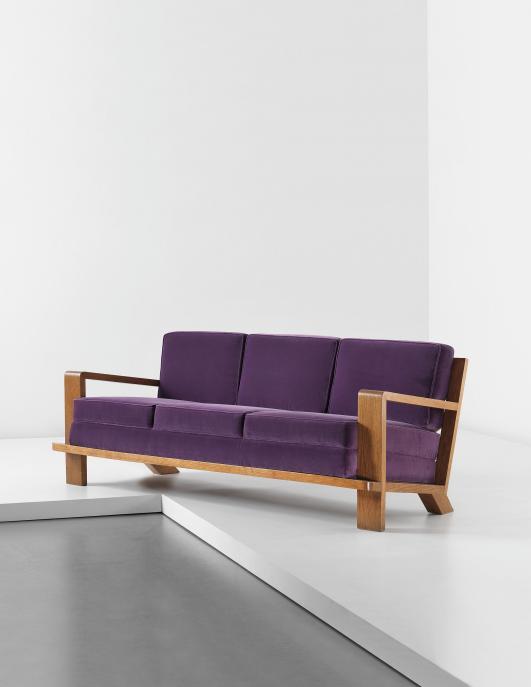 JEAN ROYÈRE 'Croisillon' sofa, circa 1948 [Estimate £80,000 - 120,000  ]