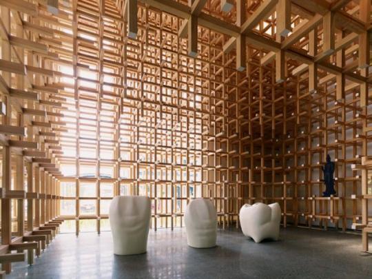 KENGO KUMA, GC Prostho Museum Research Center, Torii Matsu Machi, Aichi, Japan