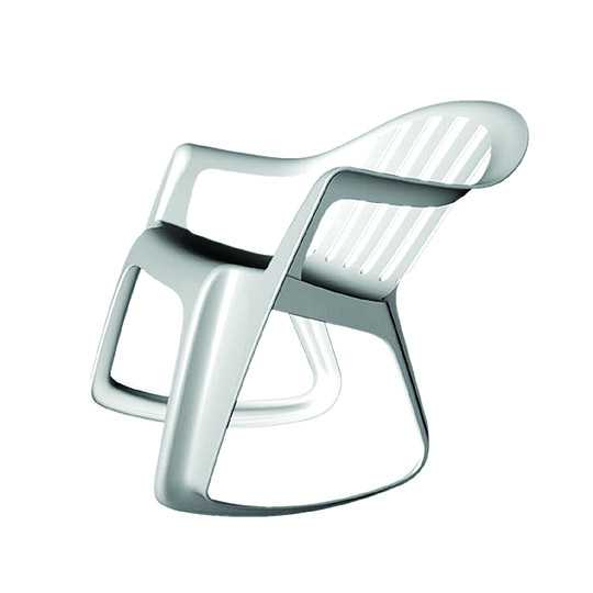 The Plastic Rocker by Mike Simonian and Maaike Evers, winner of Designboom's rocking chair competition and on display at 100% Design, 2002