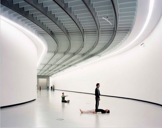 Maxxi interior designed by Zaha Hadid, 2009, Image from the International Herald Tribune