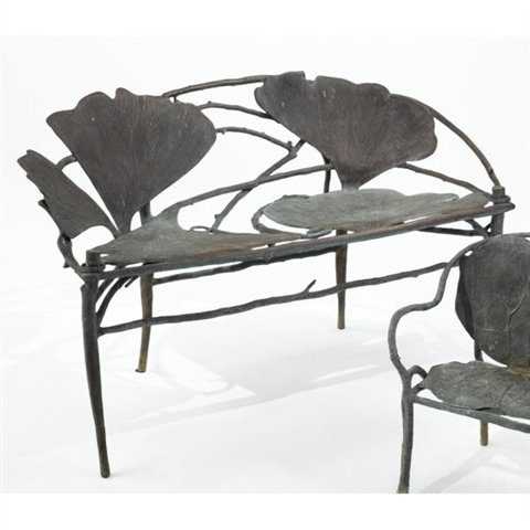'Gingko bench' by Claude Lalanne, 1999, estimated at $40,000 - 60,000 and sold for $116,500