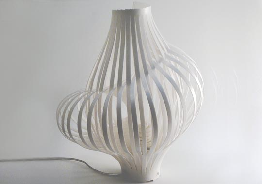 Spiral Lamp by Chis Kirby
