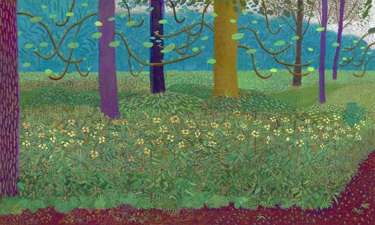 'Under the Trees' by David Hockney