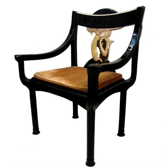Fauteuil Sirène, circa 1919 by Eileen Gray