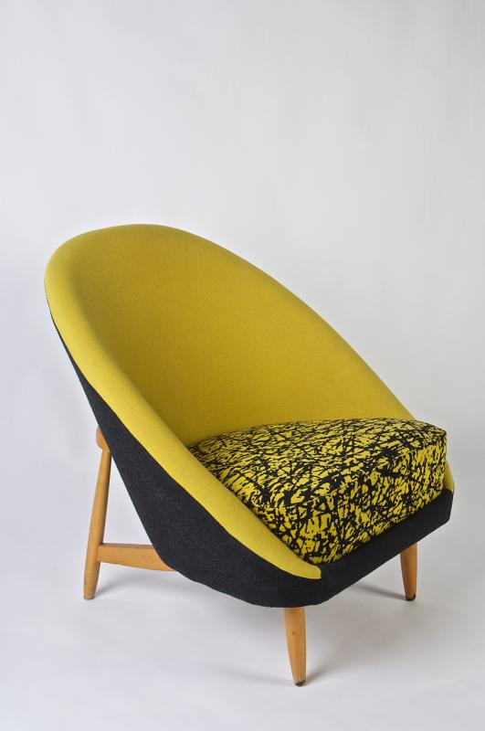 'Columbus' by (chair): Theo Ruth Designer (fabric): Lewin Alcopley [1955]
