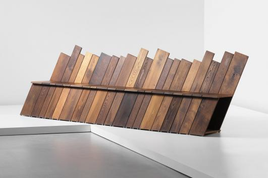 MARTINO GAMPER Unique 'Infinity' bench, for 'Bench Years', commissioned by the London Design Festival, 2012 [Estimate £7,000 - 9,000 ]
