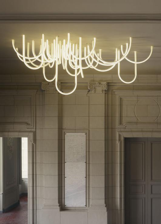 """Les Cordes"" chandelier by Mathieu Lehanneur for Château Borély"