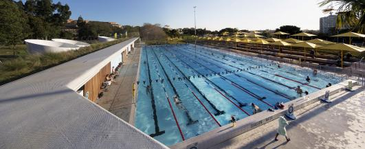 Prince Alfred Park Pool, upgrade by Neeson Murcutt Architects and Sue Barnsley Design, NSW, 2013. Photo: Brett Boardman