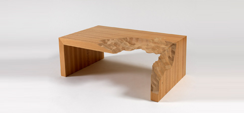 Information Ate My Table, Zachary Eastwood-Bloom, 2010, Beech. Photo: Nick Moss