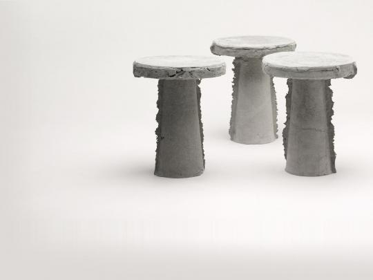 Earlier work with the material: 'Slip Stools'