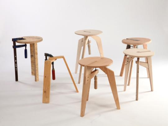 Stools by Daniel Glazman [photos by Oded Antman]