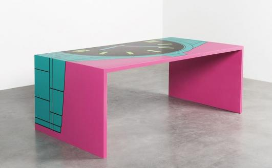 MICHAEL CRAIG-MARTIN 'Timetable' desk, 2015 - Donated by Michael Craig-Martin and Carpenters Workshop Gallery