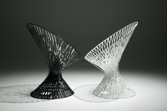 Carbon fibre 'Spun' chairs by Mathias Bengtsson