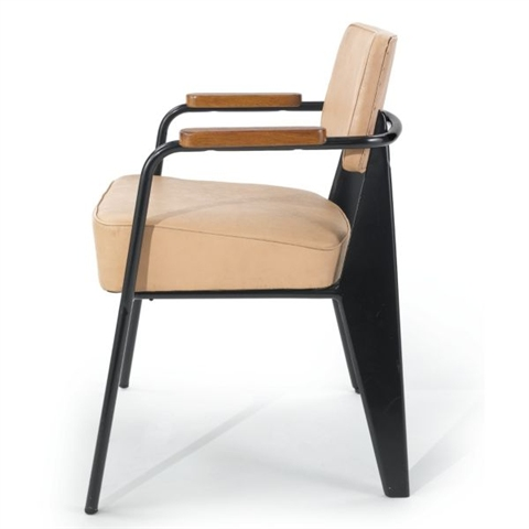 'Direction chair (model no. 352)' by Jean Prouvé, 1951, estimated at $20,000 - 30,000 and sold for $80,500