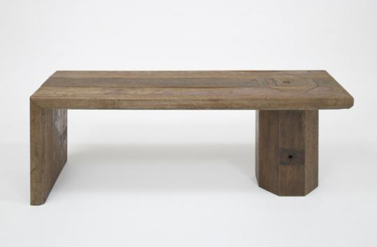 'Hide and Seek' wine bench by Rabih Hage for his 'Roughed Up' collection, 2009