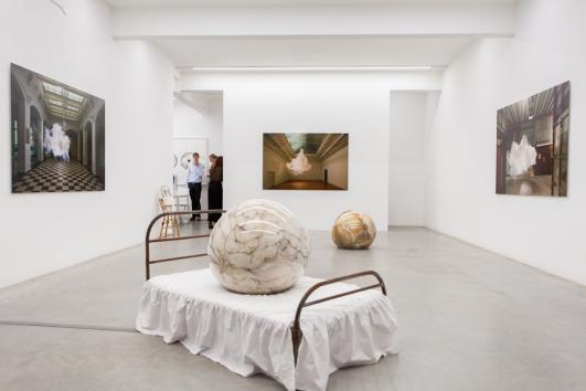 Installation view, The Uncanny, Ronchini Gallery London, 2013, photo Susanne Hakuba