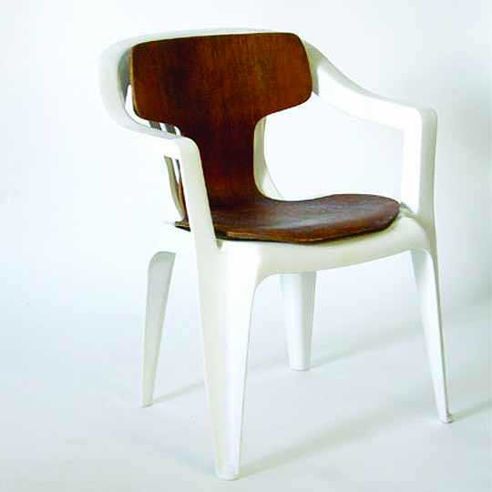 'Mono-Jackobsen' by Martino Gamper, as part of the A 100 Chairs In 100 Days Exhibition, 2007