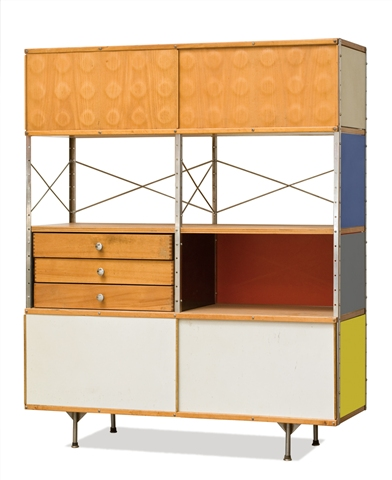 Charles and Ray Eames, Storage Unit (1952) estimated at $8,000 - 12,000, Bought in.