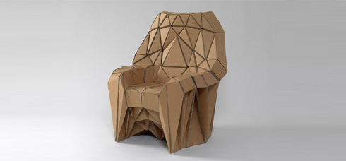 Bravais Armchair, Lazerian (Liam Hopkins), 2010, Cardboard. Photo: Nick Moss
