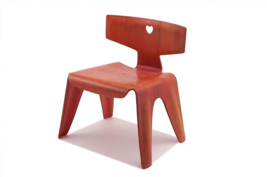 Charles and Ray Eames, Child'd Chair (1945) estimated at $7,000 - 9,000, sold for $13,750