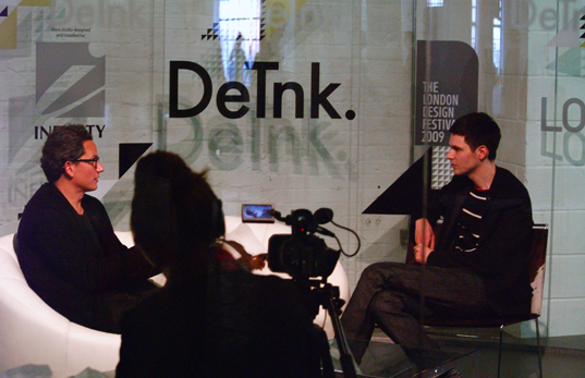 Sebastian Bergne at the DeTnk.TV Studio at Tent London 2009