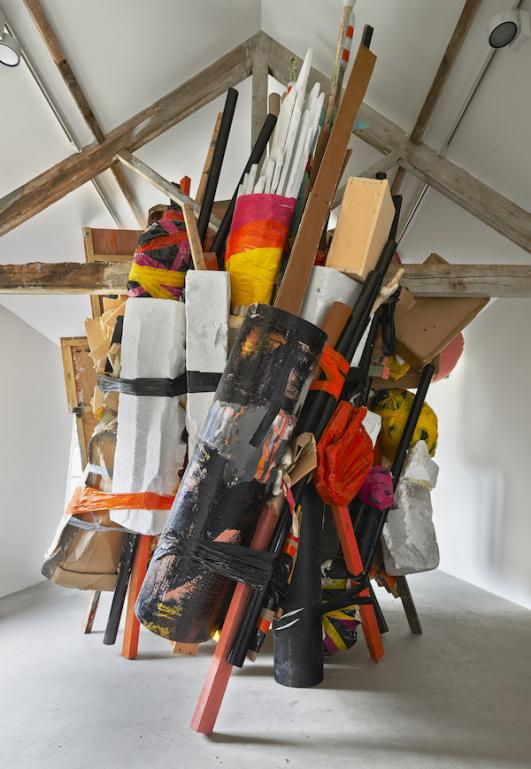 Installation view, 'Phyllida Barlow. GIG', Hauser & Wirth Somerset, 2014 © Phyllida Barlow. Courtesy the artist and Hauser & Wirth. Photo: Alex Delfanne