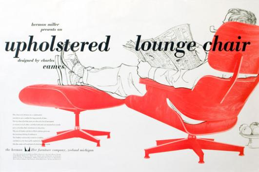 Eames® Lounge and Ottoman poster, 1956