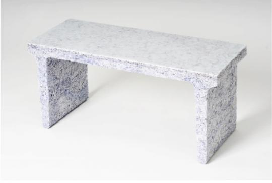 Shredded Collection Bench: White Edition by Jens Praet