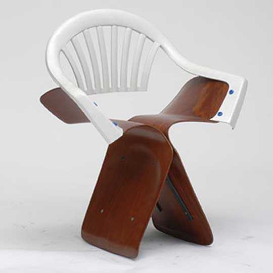 'Sonet Butterfly' by Martino Gamper, as part of the A 100 Chairs in 100 Days Exhibition, 2007
