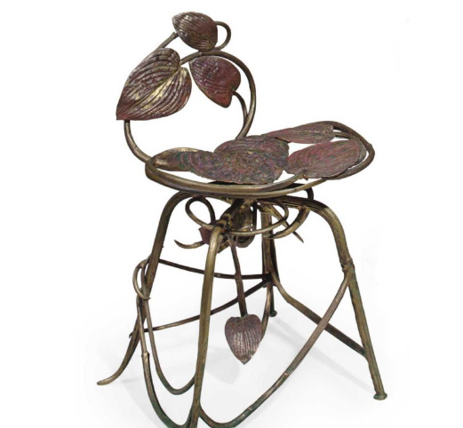 Claude Lalanne: Chair galvanized copper, bronze (1988). Estimated at $25,000 - 35,000, sold for $98,500