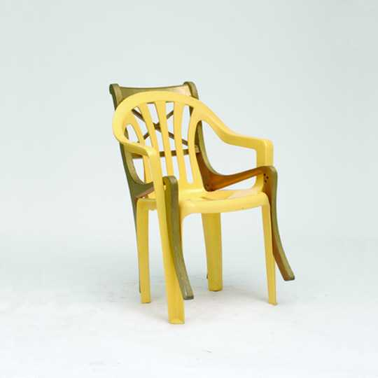 'TwoSome' by Martino Gamper, as part of the A 100 Chairs in 100 Days Exhibition, 2007