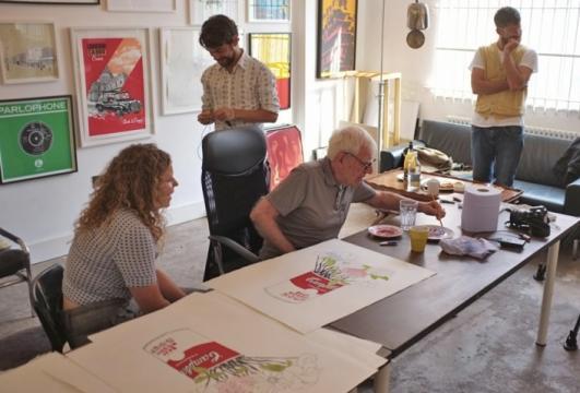 Bob Gill at Print Club London