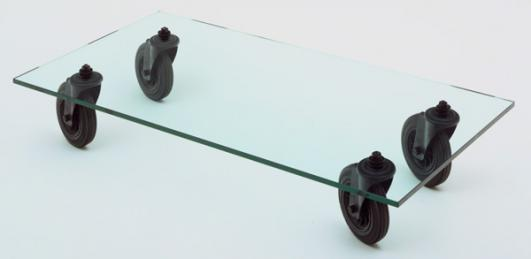 Gae Aulenti (Italian, 1930–2012). Table with Wheels (model 2652). 1980.