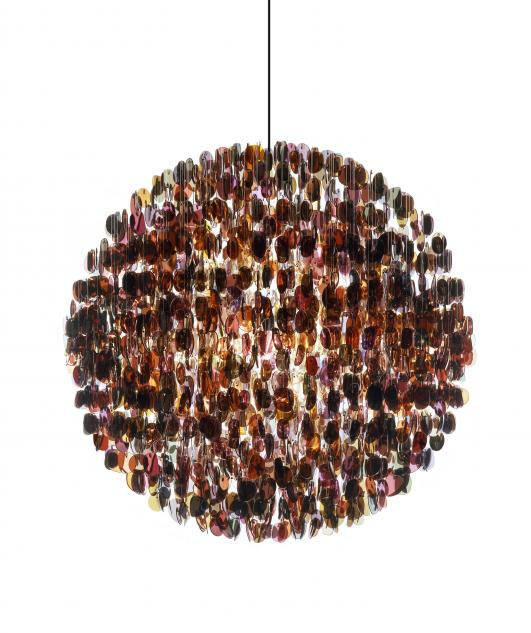 STUART HAYGARTH | OPTICAL CHANDELIER TINTED (SMALL) [Image Courtesy of Carpenters Workshop Gallery]
