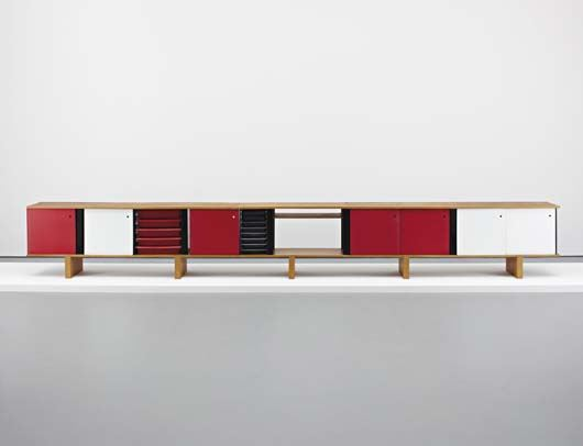 Charlotte Perriand, 'Bahut' sideboard, 1965, Estimated at $220,000-280,000, Sold for $266,500