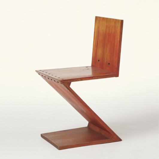 Zig-Zag Chair, Gerrit Rietveld, c. 1932 © VG Bild-Kunst, Bonn 2012, Photo: Thomas Dix