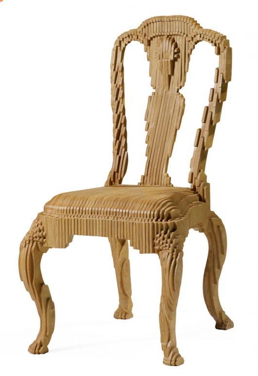 JULIAN MAYOR Fauteuil modèle «Clone chair» Eléments de bois en contrepalqué découpés et assemblés… 2,500 - 3,500 €
