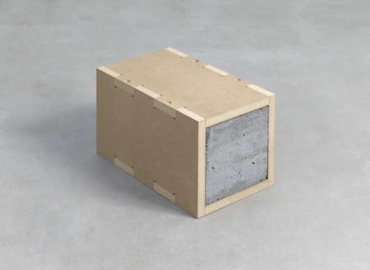 Sarah Lucas K1 2013 MDF, 1 breeze block unique [Copyright: The Artist, courtesy Sadie Coles HQ, London]