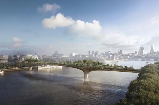 Garden Bridge © Arup, Courtesy London Festival of Architecture 2014