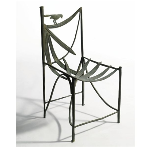 Chair from the Lila Acheson Wallace garden, Claude Lalanne, 1987, estimated at $20,000 - 30,000, sold for $43,750